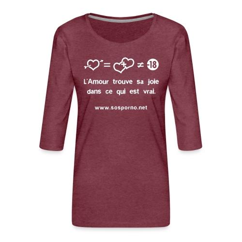 True love - T-shirt Premium manches 3/4 Femme