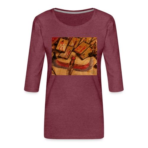 Tarocchi egizi - Maglietta da donna premium con manica a 3/4