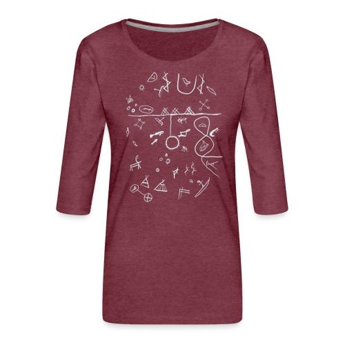 Runebomme - Premium T-skjorte med 3/4 erme for kvinner