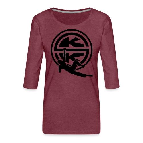 SKK_shield - Premium-T-shirt med 3/4-ärm dam
