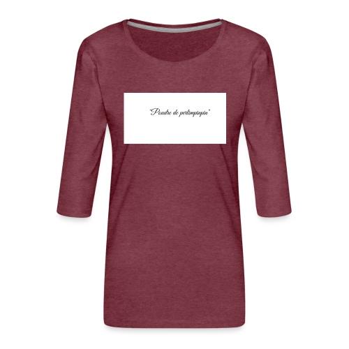Happy - T-shirt Premium manches 3/4 Femme