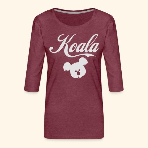 Koala Kawaii Comic Design für Australien Fans - Frauen Premium 3/4-Arm Shirt
