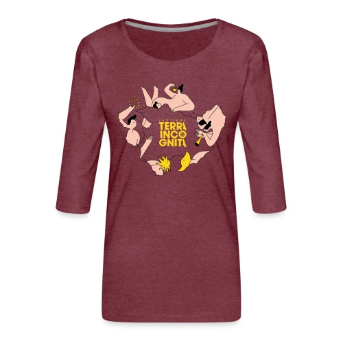 TERRA INCOGNITA 10 - T-shirt Premium manches 3/4 Femme