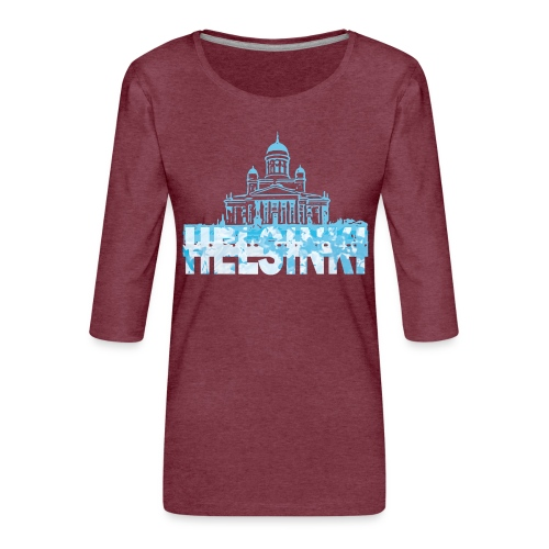 Helsinki Cathedral - Women's Premium 3/4-Sleeve T-Shirt
