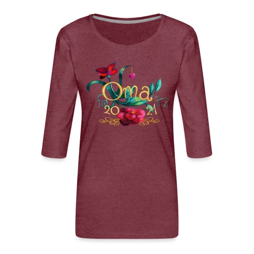 Oma 2021 - Frauen Premium 3/4-Arm Shirt