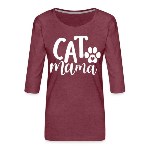 CAT MAMA - T-shirt Premium manches 3/4 Femme