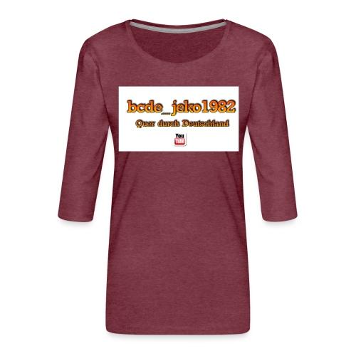 quer durch deutschland - Frauen Premium 3/4-Arm Shirt
