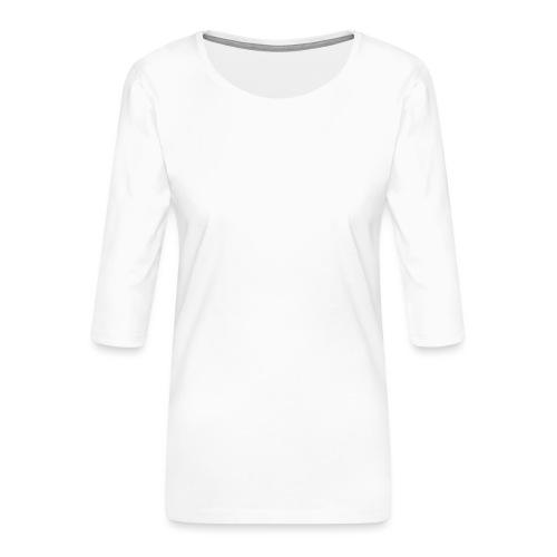 Planet Cycling Icon White - Women's Premium 3/4-Sleeve T-Shirt