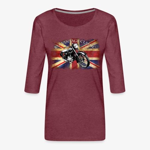 Vintage famous Brittish BSA motorcycle icon - Women's Premium 3/4-Sleeve T-Shirt
