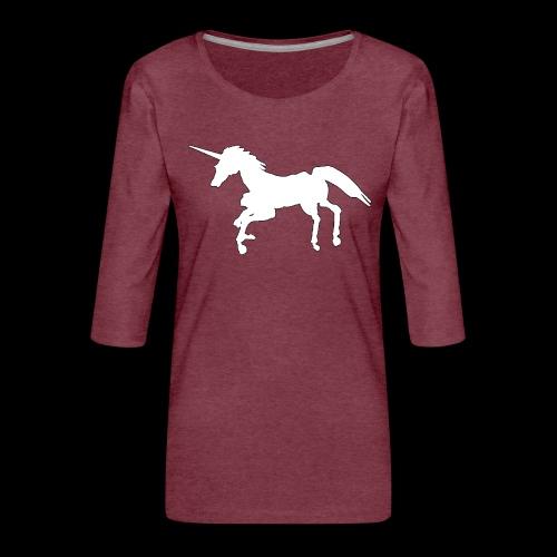 PC 38 el unicornio - Camiseta premium de manga 3/4 para mujer