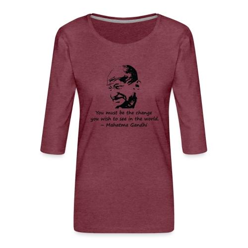 Be the Change - Women's Premium 3/4-Sleeve T-Shirt