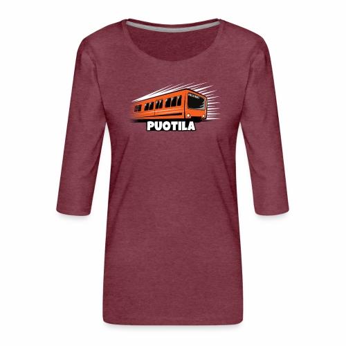 HELSINKI PUOTILA METRO T-Shirts, Hoodies, Gifts - Naisten premium 3/4-hihainen paita