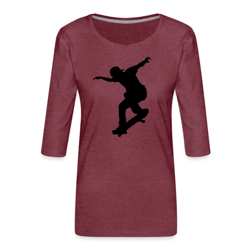 Skater - Maglietta da donna premium con manica a 3/4