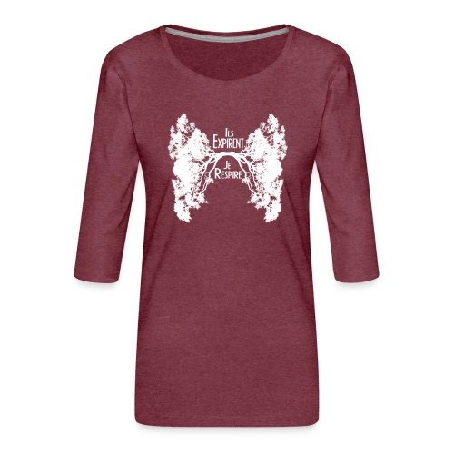 Oxygène blanc - T-shirt Premium manches 3/4 Femme