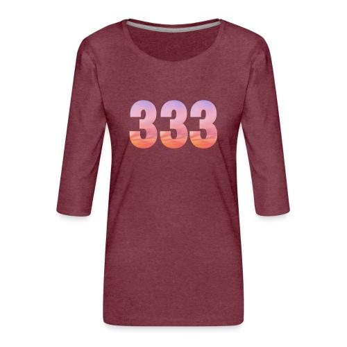 333 vous étes entouré de maitres ascensionnés - T-shirt Premium manches 3/4 Femme