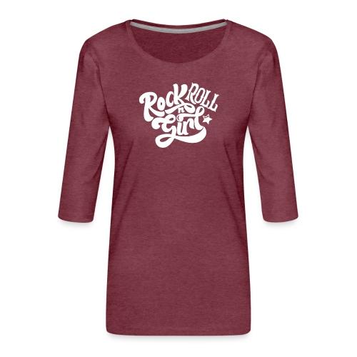 Rock n Roll Girl - Naisten premium 3/4-hihainen paita