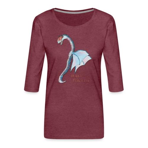 Denaris Dragon - Frauen Premium 3/4-Arm Shirt