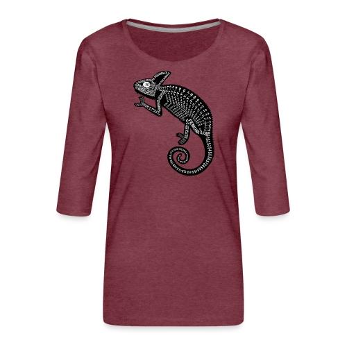 Chameleon Skeleton - Vrouwen premium shirt 3/4-mouw