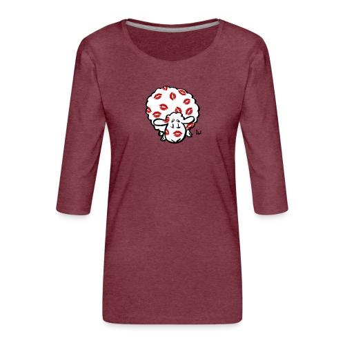 Kuss Mutterschaf - Frauen Premium 3/4-Arm Shirt
