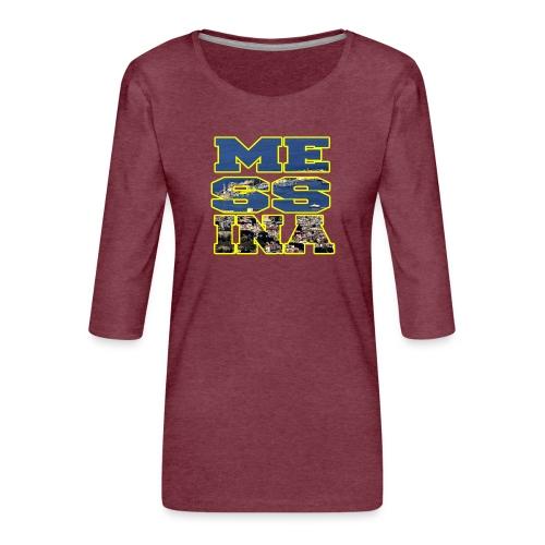MESSINA YELLOW - Maglietta da donna premium con manica a 3/4