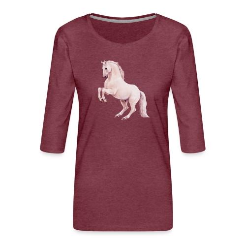 White stallion - Frauen Premium 3/4-Arm Shirt