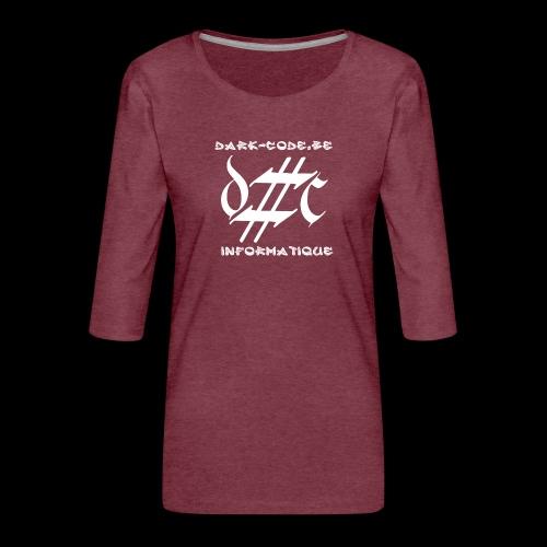 Dark-Code Gothic Logo - T-shirt Premium manches 3/4 Femme
