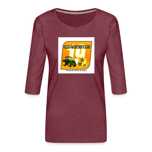 hjarne 123 danmarks bedeste youtuber - Dame Premium shirt med 3/4-ærmer