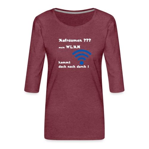 Wlan WE - Frauen Premium 3/4-Arm Shirt