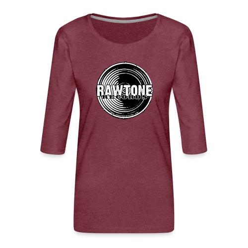 Rawtone Records - full logo - Women's Premium 3/4-Sleeve T-Shirt