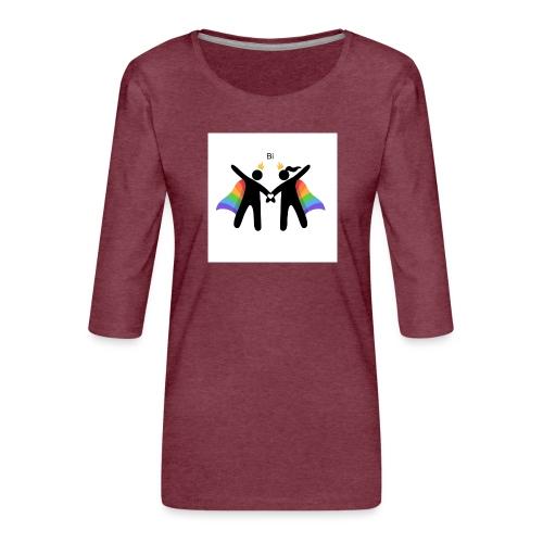 LGBT BI - Dame Premium shirt med 3/4-ærmer