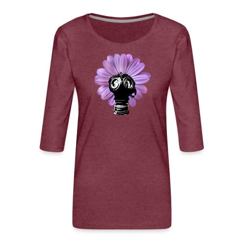 FleurMasque - T-shirt Premium manches 3/4 Femme
