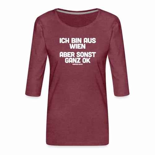 Wien - Frauen Premium 3/4-Arm Shirt