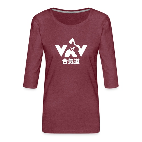 Aikido - Vrouwen premium shirt 3/4-mouw