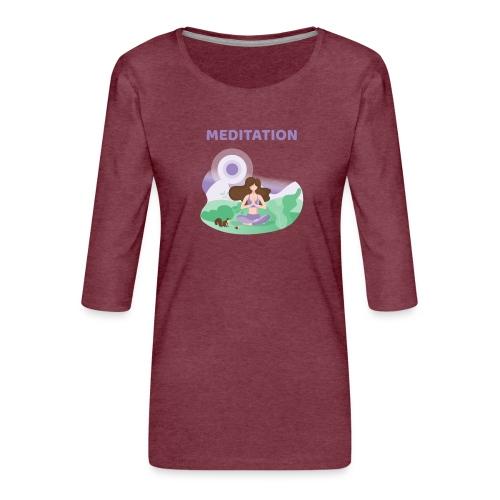 Yoga Meditation - Maglietta da donna premium con manica a 3/4