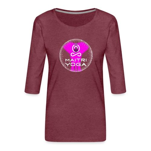Pink Elephant Om - T-shirt Premium manches 3/4 Femme