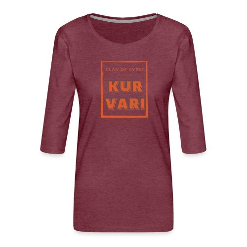 Clan of Gypsy - Position - Kurvari - Women's Premium 3/4-Sleeve T-Shirt
