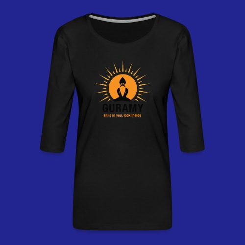 final nero con scritta - Women's Premium 3/4-Sleeve T-Shirt