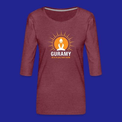 final white con scritta CORRETTO - Women's Premium 3/4-Sleeve T-Shirt