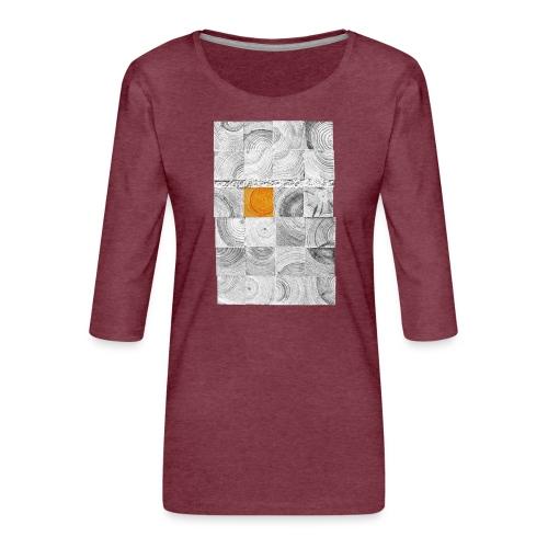 Cubes de Bois - T-shirt Premium manches 3/4 Femme