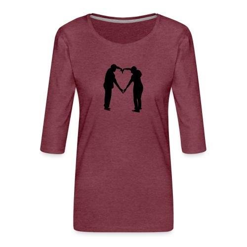 silhouette 3612778 1280 - Premium-T-shirt med 3/4-ärm dam