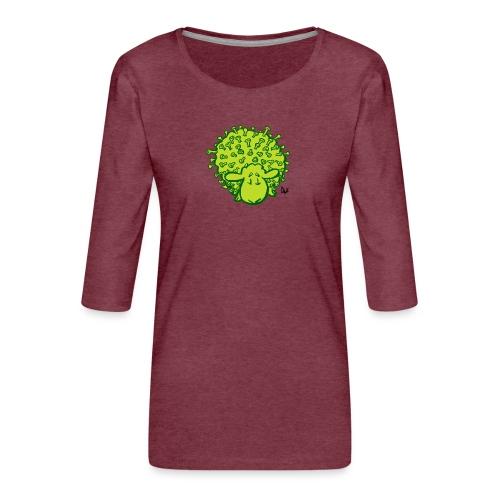 Virus sauer - Premium T-skjorte med 3/4 erme for kvinner