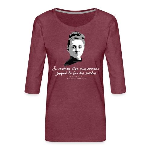 Sainte Therese patronne des missions - T-shirt Premium manches 3/4 Femme