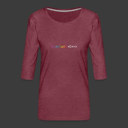 rainbow for dark background - Women's Premium 3/4-Sleeve T-Shirt