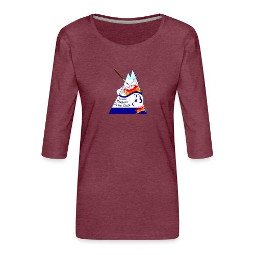 Logo colori - Maglietta da donna premium con manica a 3/4