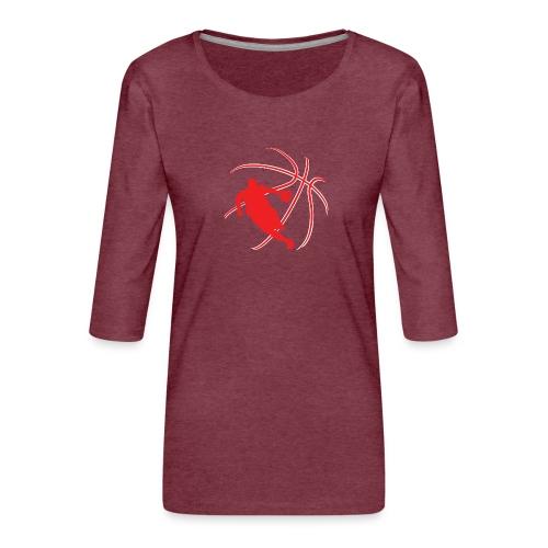 Basketball - Women's Premium 3/4-Sleeve T-Shirt