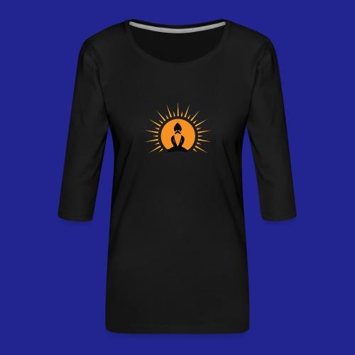 Guramylyfe logo no text black - Women's Premium 3/4-Sleeve T-Shirt