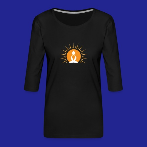 Guramylyfe logo white no text - Women's Premium 3/4-Sleeve T-Shirt