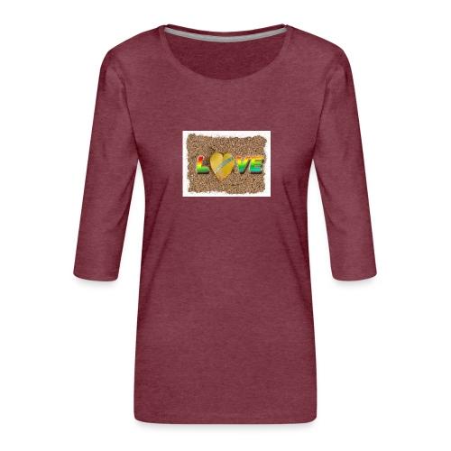 love,madinina - T-shirt Premium manches 3/4 Femme