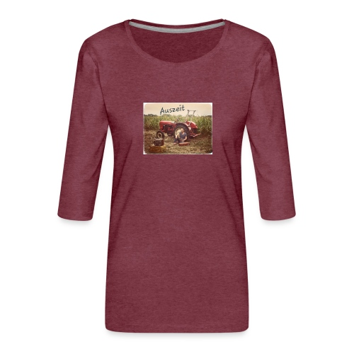 Auszeit - Frauen Premium 3/4-Arm Shirt