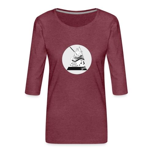 Logo BN - Maglietta da donna premium con manica a 3/4